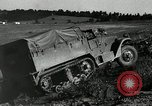 Image of half-track truck blending tank track and tires Akron Ohio USA, 1941, second 9 stock footage video 65675030484