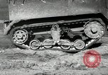 Image of half-track truck blending tank track and tires Akron Ohio USA, 1941, second 26 stock footage video 65675030484