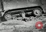 Image of half-track truck blending tank track and tires Akron Ohio USA, 1941, second 27 stock footage video 65675030484