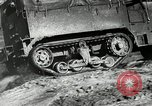 Image of half-track truck blending tank track and tires Akron Ohio USA, 1941, second 28 stock footage video 65675030484