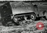 Image of half-track truck blending tank track and tires Akron Ohio USA, 1941, second 29 stock footage video 65675030484