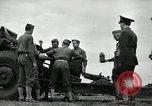 Image of Visiting Latin American officers learn about 155mm howitzer Fort Sill Oklahoma USA, 1942, second 5 stock footage video 65675030493