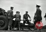 Image of Visiting Latin American officers learn about 155mm howitzer Fort Sill Oklahoma USA, 1942, second 9 stock footage video 65675030493