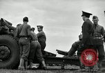 Image of Visiting Latin American officers learn about 155mm howitzer Fort Sill Oklahoma USA, 1942, second 10 stock footage video 65675030493