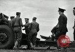 Image of Visiting Latin American officers learn about 155mm howitzer Fort Sill Oklahoma USA, 1942, second 11 stock footage video 65675030493