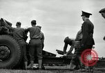 Image of Visiting Latin American officers learn about 155mm howitzer Fort Sill Oklahoma USA, 1942, second 13 stock footage video 65675030493