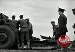 Image of Visiting Latin American officers learn about 155mm howitzer Fort Sill Oklahoma USA, 1942, second 14 stock footage video 65675030493