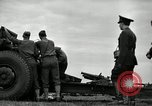 Image of Visiting Latin American officers learn about 155mm howitzer Fort Sill Oklahoma USA, 1942, second 15 stock footage video 65675030493