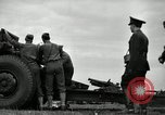 Image of Visiting Latin American officers learn about 155mm howitzer Fort Sill Oklahoma USA, 1942, second 16 stock footage video 65675030493