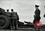 Image of Visiting Latin American officers learn about 155mm howitzer Fort Sill Oklahoma USA, 1942, second 17 stock footage video 65675030493