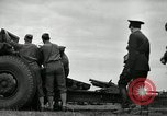 Image of Visiting Latin American officers learn about 155mm howitzer Fort Sill Oklahoma USA, 1942, second 18 stock footage video 65675030493
