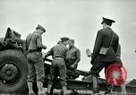Image of Visiting Latin American officers learn about 155mm howitzer Fort Sill Oklahoma USA, 1942, second 21 stock footage video 65675030493