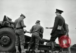 Image of Visiting Latin American officers learn about 155mm howitzer Fort Sill Oklahoma USA, 1942, second 22 stock footage video 65675030493