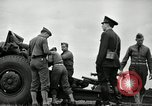Image of Visiting Latin American officers learn about 155mm howitzer Fort Sill Oklahoma USA, 1942, second 23 stock footage video 65675030493