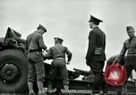 Image of Visiting Latin American officers learn about 155mm howitzer Fort Sill Oklahoma USA, 1942, second 24 stock footage video 65675030493