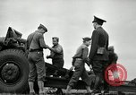Image of Visiting Latin American officers learn about 155mm howitzer Fort Sill Oklahoma USA, 1942, second 25 stock footage video 65675030493