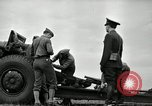 Image of Visiting Latin American officers learn about 155mm howitzer Fort Sill Oklahoma USA, 1942, second 27 stock footage video 65675030493