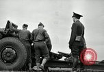 Image of Visiting Latin American officers learn about 155mm howitzer Fort Sill Oklahoma USA, 1942, second 29 stock footage video 65675030493