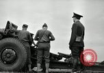 Image of Visiting Latin American officers learn about 155mm howitzer Fort Sill Oklahoma USA, 1942, second 30 stock footage video 65675030493