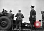 Image of Visiting Latin American officers learn about 155mm howitzer Fort Sill Oklahoma USA, 1942, second 31 stock footage video 65675030493
