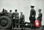 Image of Visiting Latin American officers learn about 155mm howitzer Fort Sill Oklahoma USA, 1942, second 32 stock footage video 65675030493
