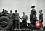 Image of Visiting Latin American officers learn about 155mm howitzer Fort Sill Oklahoma USA, 1942, second 33 stock footage video 65675030493