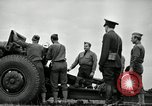 Image of Visiting Latin American officers learn about 155mm howitzer Fort Sill Oklahoma USA, 1942, second 35 stock footage video 65675030493