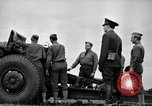 Image of Visiting Latin American officers learn about 155mm howitzer Fort Sill Oklahoma USA, 1942, second 36 stock footage video 65675030493