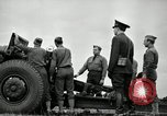 Image of Visiting Latin American officers learn about 155mm howitzer Fort Sill Oklahoma USA, 1942, second 37 stock footage video 65675030493