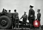 Image of Visiting Latin American officers learn about 155mm howitzer Fort Sill Oklahoma USA, 1942, second 38 stock footage video 65675030493