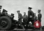 Image of Visiting Latin American officers learn about 155mm howitzer Fort Sill Oklahoma USA, 1942, second 41 stock footage video 65675030493