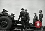 Image of Visiting Latin American officers learn about 155mm howitzer Fort Sill Oklahoma USA, 1942, second 42 stock footage video 65675030493
