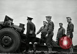 Image of Visiting Latin American officers learn about 155mm howitzer Fort Sill Oklahoma USA, 1942, second 43 stock footage video 65675030493