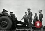 Image of Visiting Latin American officers learn about 155mm howitzer Fort Sill Oklahoma USA, 1942, second 44 stock footage video 65675030493