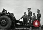 Image of Visiting Latin American officers learn about 155mm howitzer Fort Sill Oklahoma USA, 1942, second 45 stock footage video 65675030493