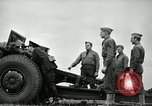 Image of Visiting Latin American officers learn about 155mm howitzer Fort Sill Oklahoma USA, 1942, second 46 stock footage video 65675030493
