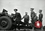 Image of Visiting Latin American officers learn about 155mm howitzer Fort Sill Oklahoma USA, 1942, second 47 stock footage video 65675030493