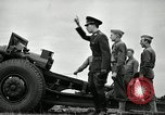 Image of Visiting Latin American officers learn about 155mm howitzer Fort Sill Oklahoma USA, 1942, second 49 stock footage video 65675030493