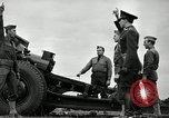 Image of Visiting Latin American officers learn about 155mm howitzer Fort Sill Oklahoma USA, 1942, second 51 stock footage video 65675030493