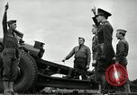 Image of Visiting Latin American officers learn about 155mm howitzer Fort Sill Oklahoma USA, 1942, second 52 stock footage video 65675030493