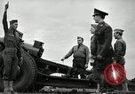 Image of Visiting Latin American officers learn about 155mm howitzer Fort Sill Oklahoma USA, 1942, second 53 stock footage video 65675030493