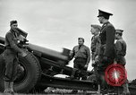 Image of Visiting Latin American officers learn about 155mm howitzer Fort Sill Oklahoma USA, 1942, second 54 stock footage video 65675030493
