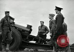Image of Visiting Latin American officers learn about 155mm howitzer Fort Sill Oklahoma USA, 1942, second 55 stock footage video 65675030493
