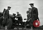 Image of Visiting Latin American officers learn about 155mm howitzer Fort Sill Oklahoma USA, 1942, second 56 stock footage video 65675030493