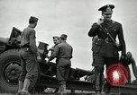 Image of Visiting Latin American officers learn about 155mm howitzer Fort Sill Oklahoma USA, 1942, second 57 stock footage video 65675030493