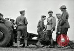 Image of Visiting Latin American officers learn about 155mm howitzer Fort Sill Oklahoma USA, 1942, second 61 stock footage video 65675030493