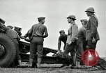 Image of Visiting Latin American officers learn about 155mm howitzer Fort Sill Oklahoma USA, 1942, second 62 stock footage video 65675030493