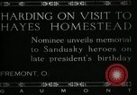 Image of President W G Harding Fremont Ohio USA, 1919, second 1 stock footage video 65675030513