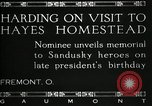 Image of President W G Harding Fremont Ohio USA, 1919, second 6 stock footage video 65675030513