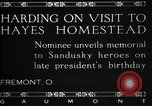 Image of President W G Harding Fremont Ohio USA, 1919, second 9 stock footage video 65675030513